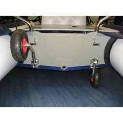 Колеса для лодки транспортные на транец (комплект)